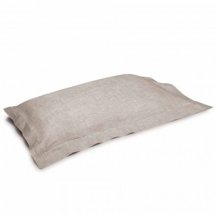 Pillowcase in Pure Linen Natural Color Made in Italy - Poppy
