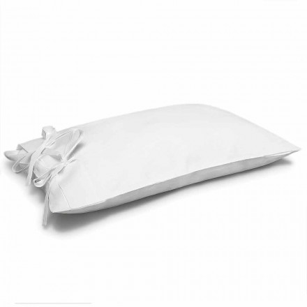 Cream White Pure Linen Pillowcase Made in Italy - Daiana