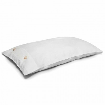 Cream White Pure Linen Bed Pillowcase Made in Italy - Beach