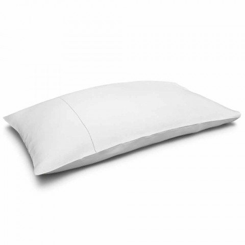 Cream White Pure Linen Bed Cushion Cover Made in Italy - Chiana