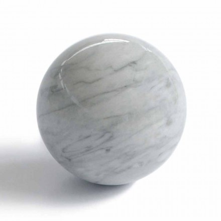 Modern Ball Paperweight in Bardiglio Gray Marble Made in Italy - Sphere
