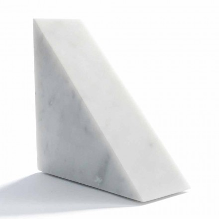 Modern White Carrara Marble Bookend Made in Italy - Tria