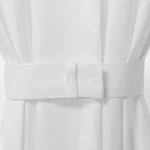 Curtain clip in Cream or Natural White Linen Made in Italy - Blessy