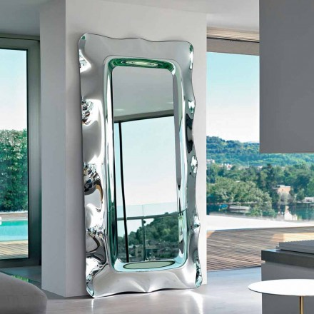 Fiam Italia Dorian floor/wall hung mirror 202x105 cm, made in Italy