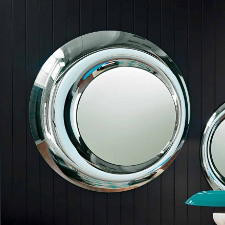Fiam Italia Rosy modern round wall-mounted mirror 130 cm made in Italy