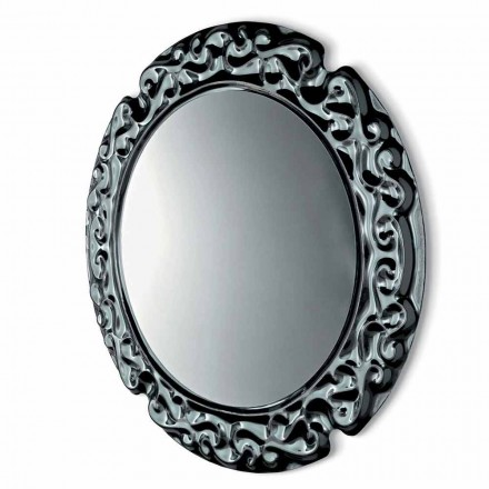Fiam Veblèn New Baroque round wall mirror of made in Italy design