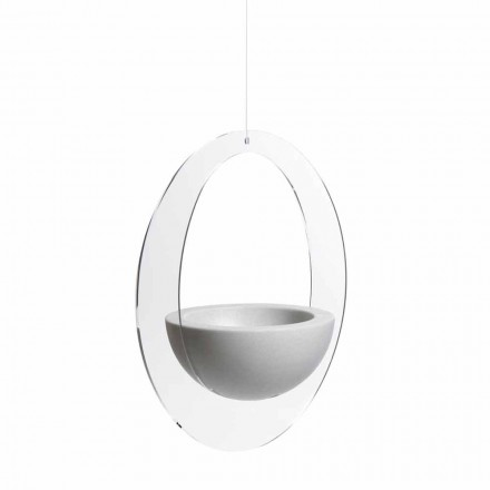 Hanging flower pot Willy, L68 W40 H75 cm, modern design