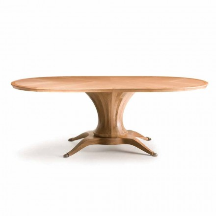 Fratelli Boffi Lui Oval modern dining table in natural walnut wood