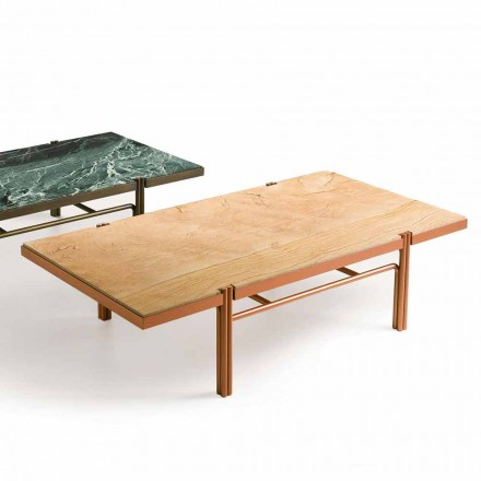 Fratelli Boffi Mathilde modern design coffee table with marble top