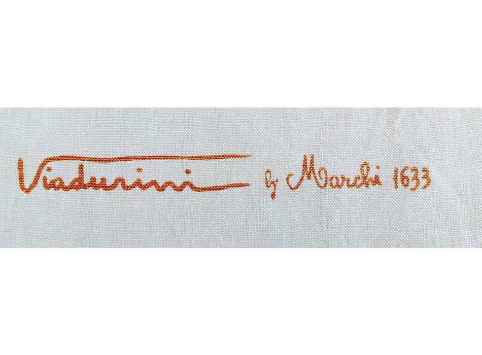 Italian Artisan Linen Apron Hand Printed Unique Artistic Piece
