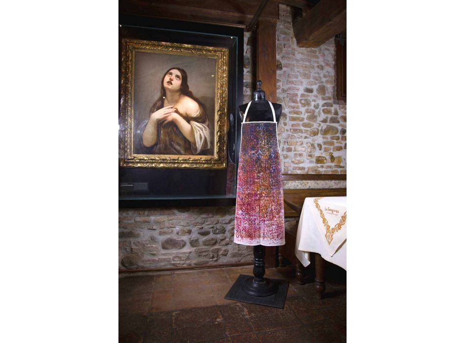 Italian Handcrafted Apron in Cotton with Manual Art Print - Brands