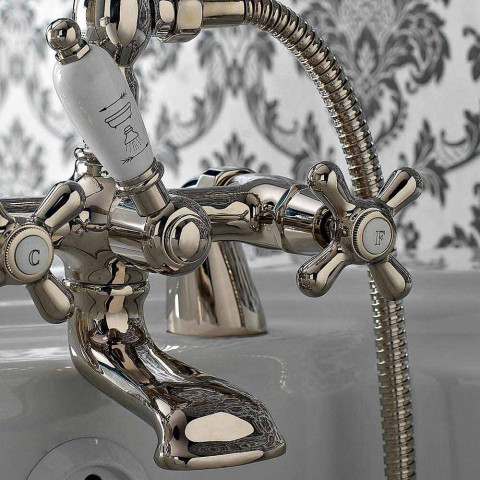 Bordovasca Bath and Handshower Group in Classic Handcrafted Brass - Ercolina