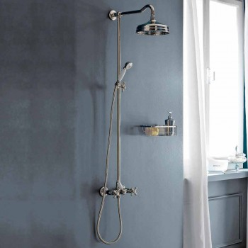Classic Duplex Brass Shower Group with 3 Sizes Showerhead - Ercolina