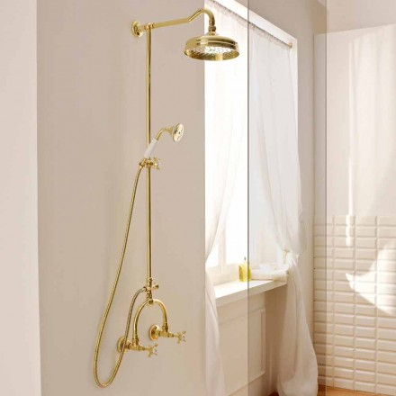 External Shower Mixer with Latch Bar in Brass Made in Italy - Katerina