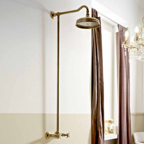 Classic Style Handcrafted Brass Sliding External Shower Group - Miriano