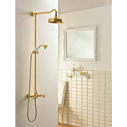 External Shower Set in Brass, Made in Italy - Katerina