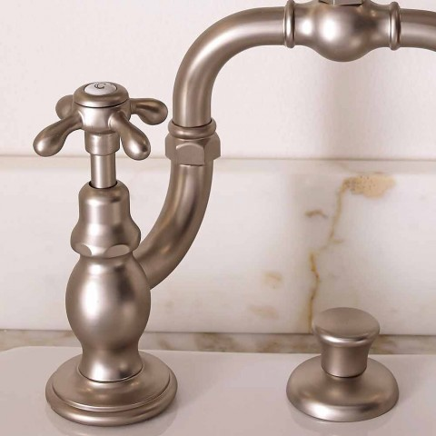 Classic Brass Mixer for Bridge Sink Made in Italy - Klarisa