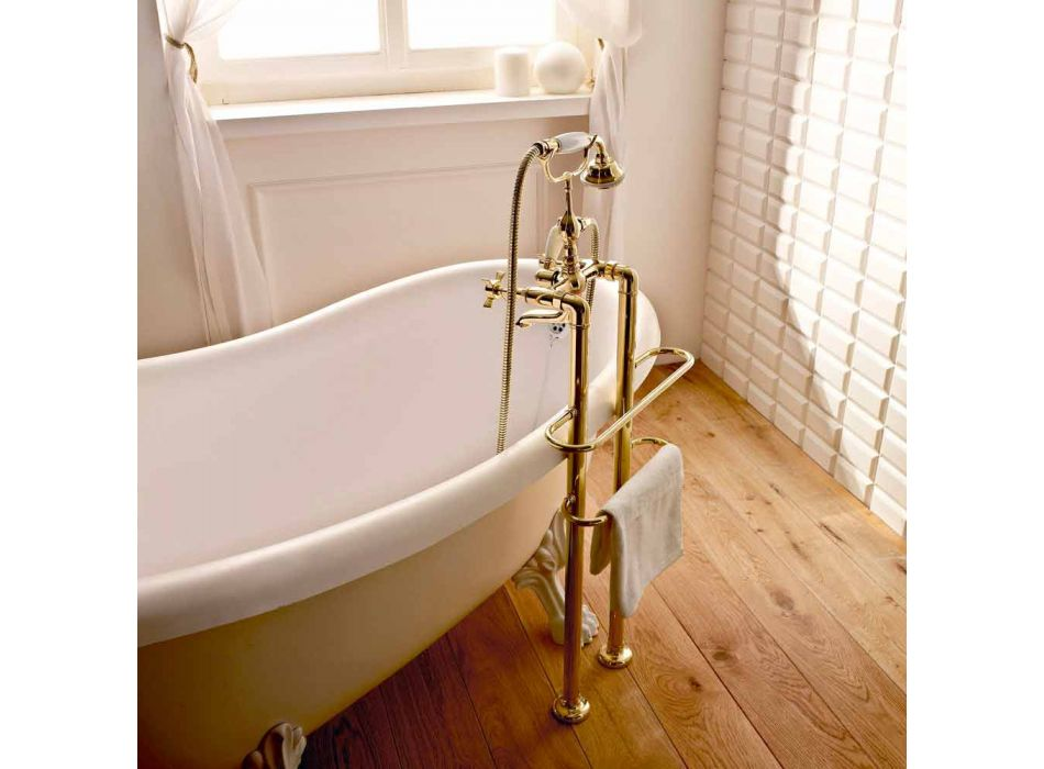 Classic Design Bathtub Floor Group in Brass Made in Italy - Katerina