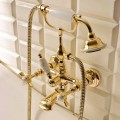 Brass Outdoor Bathtub Set in Classic Style Made in Italy - Katerina