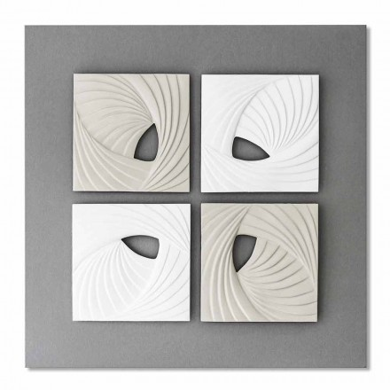 White and Gray Modern Design Decorative Wall Installation - Bossy