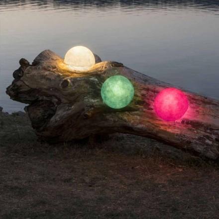 Outdoor wall lamp In-es.artdesign Button Out in colored nebulite