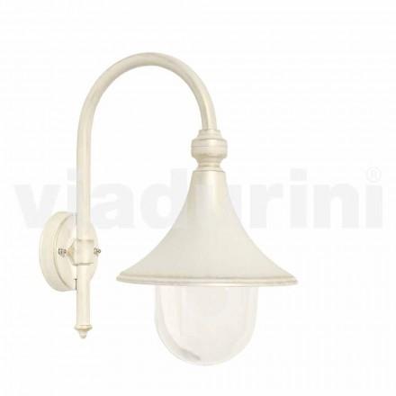 Garden wall white aluminum lanter, made in Italy, Anusca