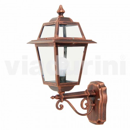 Garden wall lamp made with aluminum, produced in Italy, Kristel