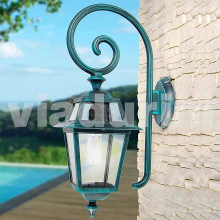 Garden wall lamp mnade with aluminum, produced in Italy, Kristel