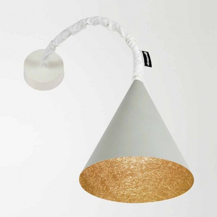 Designer wall lamp In-es.artdesign Jazz Cement painted