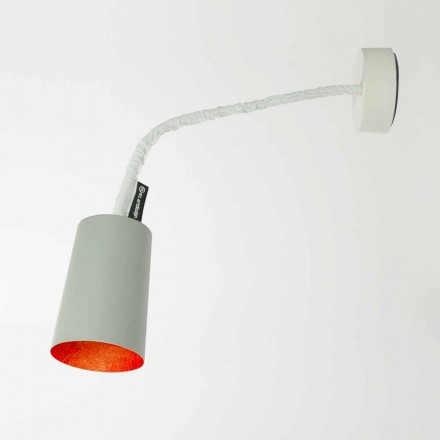 Designer wall lamp In-es.artdesign Paint in painted cement