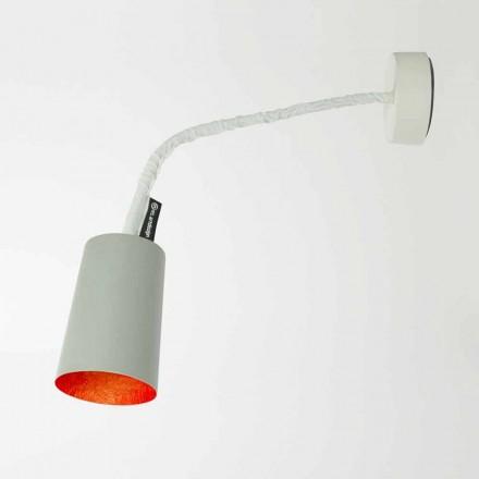 Designer wall lamp In-es.artdesign Paint in painted cement