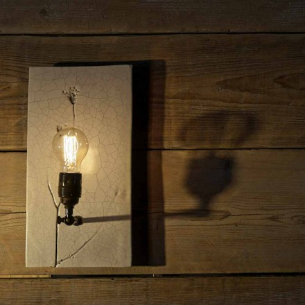 Handmade Ceramic and Iron Wall Lamp Made in Italy - Floria
