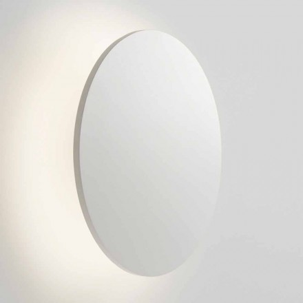 Modern Round Wall Lamp in Gold, Rose Gold, White or Black Metal - Smania