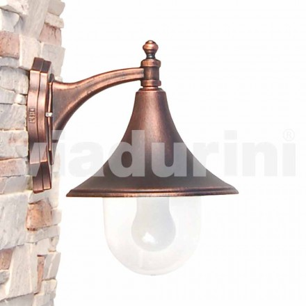Outdoor wall lamp made with die-cast aluminum, made Italy, Anusca