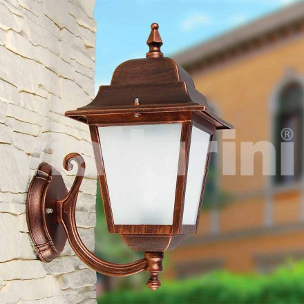 Outdoor wall lamp made with aluminum, produced in Italy, Aquilina