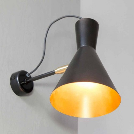 Handmade Iron and Aluminum Wall Lamp Made in Italy - Selina