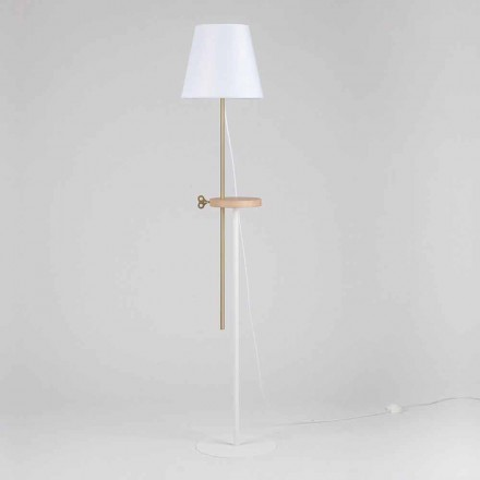 Design Floor Lamp in Steel, Ash and Brass Made in Italy - Pitulla