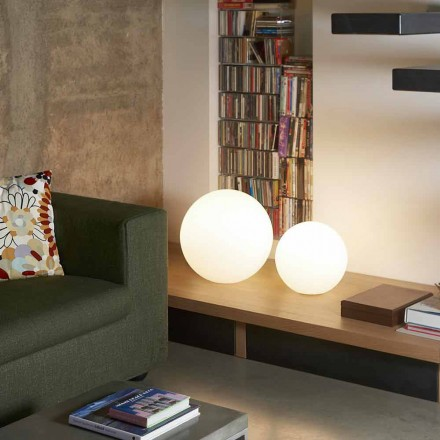 Modern floor / table ball lamp Slide Globo, produced in Italy