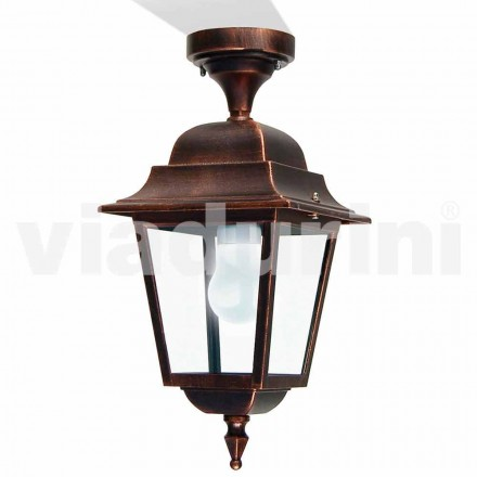 Outdoor ceiling light made with aluminum, made in Italy, Aquilina