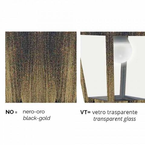 Outdoor aluminum ceiling lamp made in Italy, Aquilina