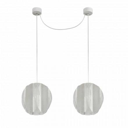 2 light methacrylate pendant lamp Desire, modern design, diam. 22 cm