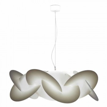 Pendant lamp 3 lights methacrylate with decoration diam. 90Cm Leda