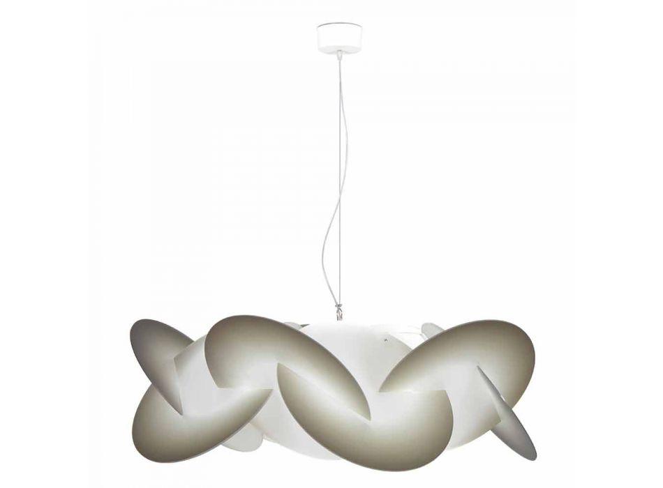 Pendant lamp 3 lights methacrylate with decoration diam. 90Cm Leda