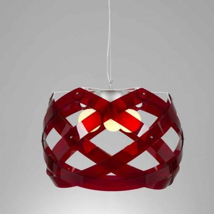 Modern design 3-lamp methacrylate pendant lamp Vanna, 67 cm diam.