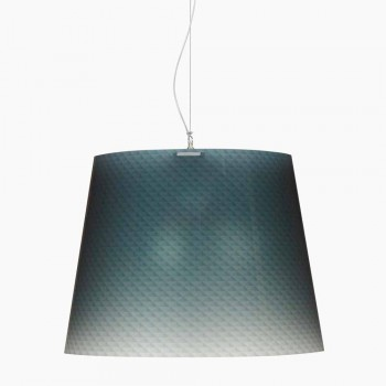Pendant lamp 3 lights in polycarbonate design, diam.66, Rania