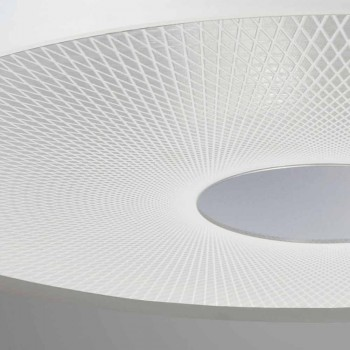 Pendant lamp 3 lights methacrylate satin, diam.62cm, Franca