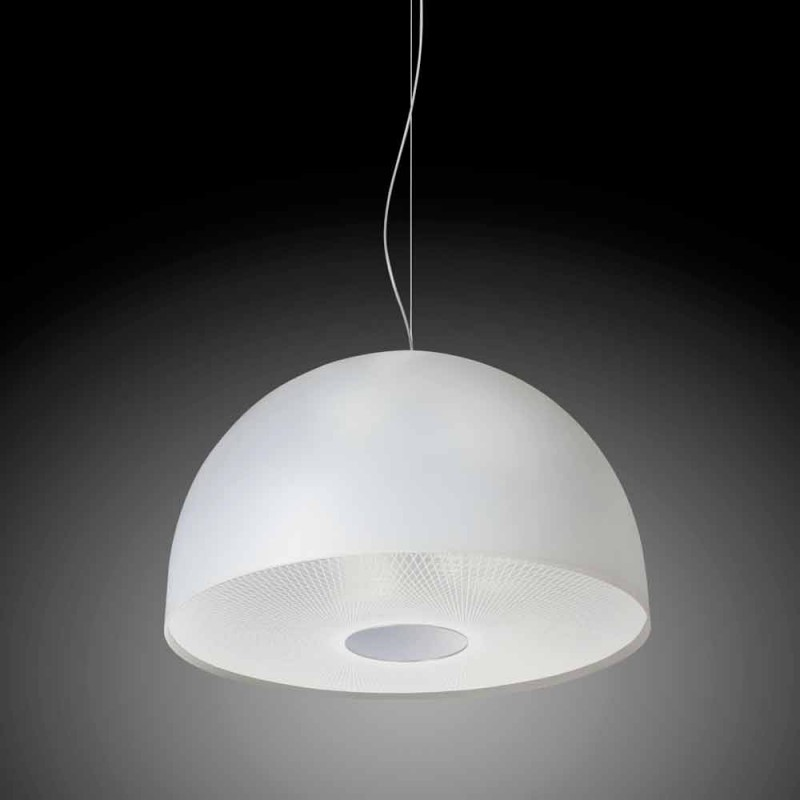 Pendant lamp 3 lights methacrylate satin, diam.62cm, Franca
