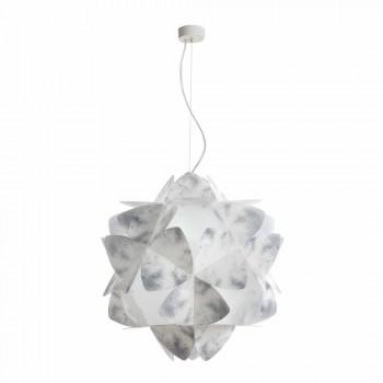 Pendant lamp 3 lights nuance gray, diameter 63 cm, Kaly