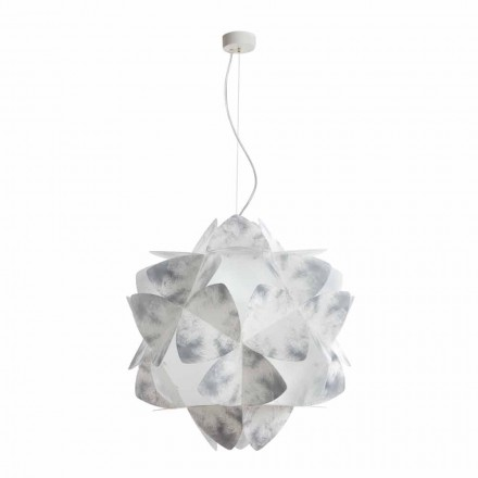 3-bulb modern pendant lamp Kaly, faded grey finish, 63 cm diam.