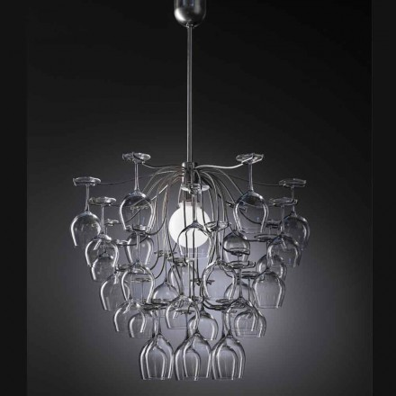 Modern design pendant lamp with 30 glasses Sauvignon